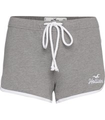 chain logo knit short shorts flowy shorts/casual shorts grå hollister