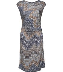 3392 j - danja jurk knielengte blauw sand