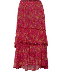 claudette skirt knälång kjol röd odd molly