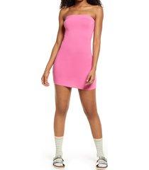 women's bp. knit tube dress, size xx-small - pink
