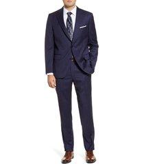 men's big & tall peter millar classic fit windowpane wool suit