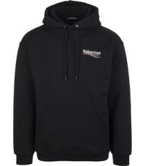 black man hoodie with political campaign logo