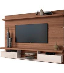painel home suspenso 2.2 para tv atã© 60 sala de estar lennon nature/off white - gran belo - off-white - dafiti