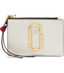 women's marc jacobs snapshot leather id wallet - ivory