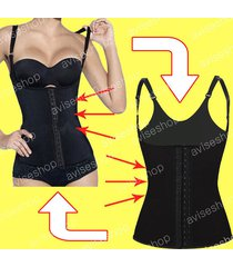 women original waist trainer cincher vest underbust corset body shaper #19