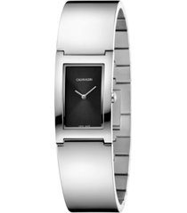 calvin klein women's swiss polish stainless steel bangle bracelet watch 22mm