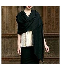 cashmere shawl, 'kashmir ebony' (india)