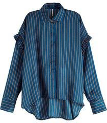 blouse boxy blauw