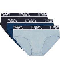 armani slips stretch cotton 3-pack blauw