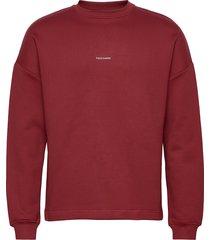 flea crew sweat-shirt tröja röd holzweiler