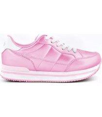 zapatilla rosa footy plataforma funny store