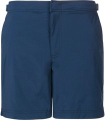 orlebar brown side buckle swim shorts - blue