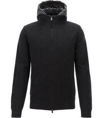 boss men's belmo zip-through knitted jacket