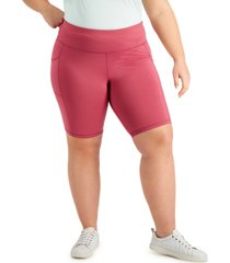 ideology plus size pull-on bicycle shorts, created for macy's