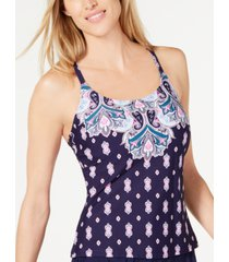 island escape jetset push-up tankini top, created for macy's women's swimsuit