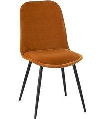 krzesło welwetowe 2 szt. medellin musztardowe