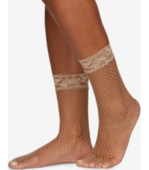 berkshire women's fishnet anklet socks 5118