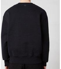 ami men's de coeur tonal crewneck sweatshirt - black - xxl