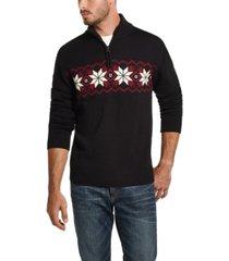 weatherproof vintage men's snowflake quarter-zip sweater