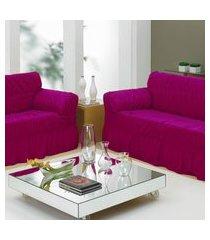 capa de sofá 2 e 3 lugares com 20 elástico - vinho - bene casa