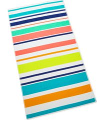 martha stewart collection multi stripe beach towel, created for macy's bedding
