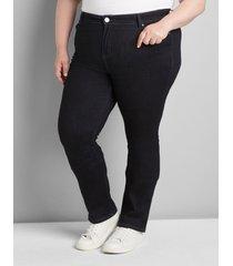 lane bryant women's straight fit high-rise straight jean- dark wash 18 dark denim