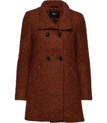 onlsophia wool boucle coat cc otw yllerock rock brun only