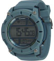 relógio digital x games xmppd523 - unissex - azul claro