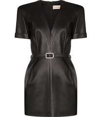alexandre vauthier embellished-buckle mini dress - black