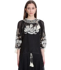 red valentino blouse in black polyester