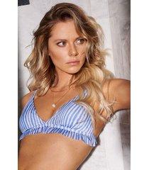 hunkemöller julia triangel-bikiniöverdel blå