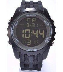 relógio potenzia digital running à prova dágua original - masculino