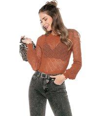 blusa marrón paris district