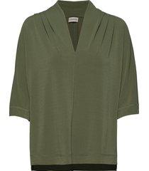 bijana blouses short-sleeved grön by malene birger