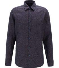 boss men's relegant 2 regular fit retro-print shirt