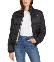 volcom puffs n stuf reversible puffer jacket