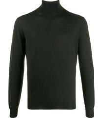 dell'oglio ribbed knit roll-neck sweatshirt - green