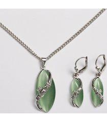 claddagh cat's eye jewelry set