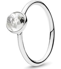 anel gota de cristal rocha - abril