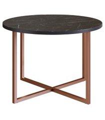 mesa de centro redonda artesano estrutura cobre
