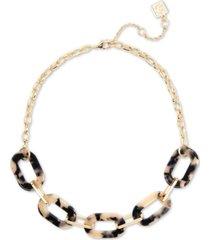 """zenzii gold-tone tortoise-look link collar necklace, 17-1/2"""" + 3"""" extender"""