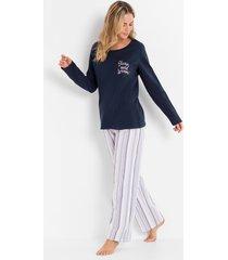 pyjama met geweven broek (2-dlg. set)