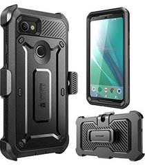 google pixel 2 xl case full coverage rugged holster cover screen protector black