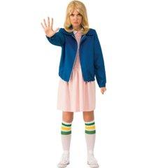 buyseasons women's stranger things eleven's blue jacket adult costume
