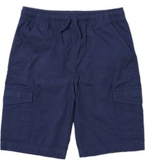 toddler boys solid tie waist cargo shorts