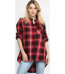 camisa ellus oversized xadrez feminina