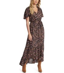 jessica simpson lynne floral-print belted dress