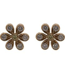 18kt gold daisy stud earrings