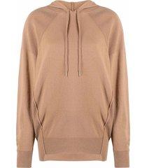 stella mccartney step-hem wool hoodie