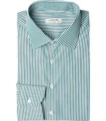 camicia da uomo su misura, ibieffe, righe verdi, quattro stagioni | lanieri